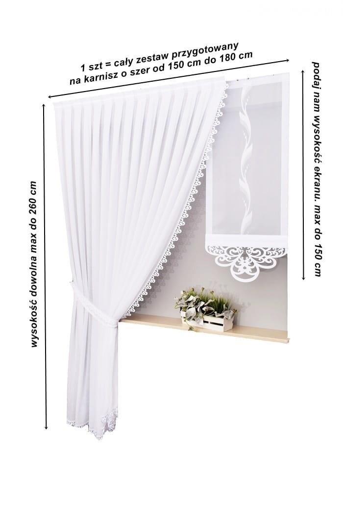 Zestaw Firan Alicja 1 Ekrany Panele Ażury 150 180