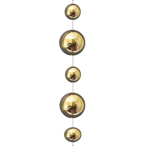 Kule Wiszące Dekoracyjne Złote Stalowe 100 Cm